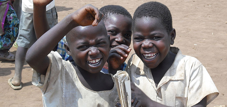 orphans from uganda playing